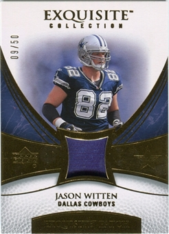 2007 Upper Deck Exquisite Collection Patch Gold #JH Jason Witten 9/50