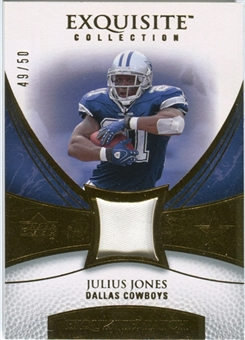 2007 Upper Deck Exquisite Collection Patch Gold #JJ Julius Jones /50