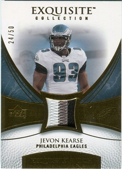 2007 Upper Deck Exquisite Collection Patch Gold #JK Jevon Kearse /50