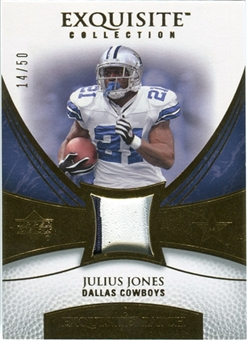 2007 Upper Deck Exquisite Collection Patch Gold #JU Julius Jones /50