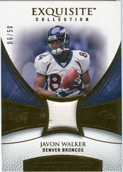 2007 Upper Deck Exquisite Collection Patch Gold #JW Javon Walker /50