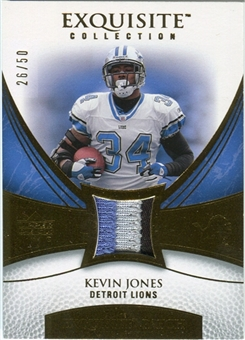 2007 Upper Deck Exquisite Collection Patch Gold #KJ Kevin Jones /50