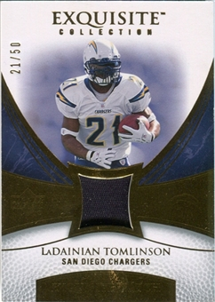 2007 Upper Deck Exquisite Collection Patch Gold #LT LaDainian Tomlinson /50
