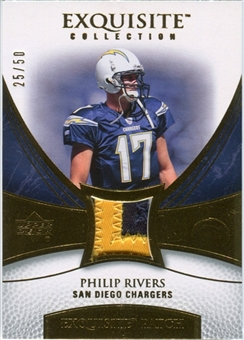 2007 Upper Deck Exquisite Collection Patch Gold #PR Philip Rivers /50