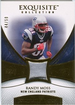 2007 Upper Deck Exquisite Collection Patch Gold #RM Randy Moss /50