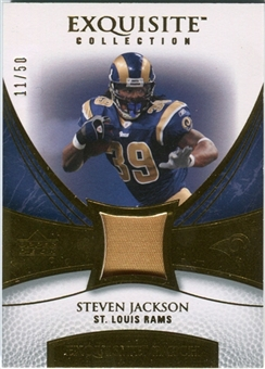 2007 Upper Deck Exquisite Collection Patch Gold #SJ Steven Jackson /50