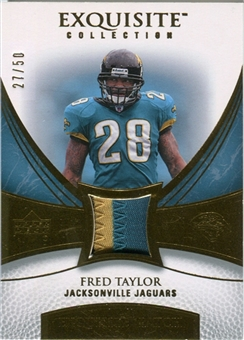 2007 Upper Deck Exquisite Collection Patch Gold #TA Fred Taylor /50