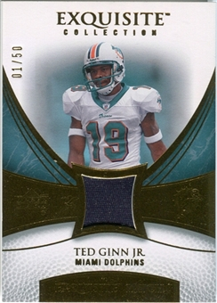 2007 Upper Deck Exquisite Collection Patch Gold #TG Ted Ginn Jr. /50
