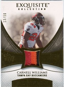 2007 Upper Deck Exquisite Collection Patch Gold #WI Cadillac Williams /50