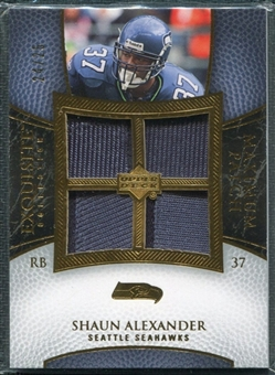 2007 Upper Deck Exquisite Collection Maximum Patch #SA Shaun Alexander /25