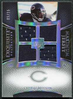 2007 Upper Deck Exquisite Collection Maximum Jersey Silver Spectrum #CB Cedric Benson /15