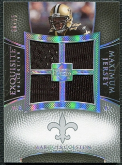 2007 Upper Deck Exquisite Collection Maximum Jersey Silver Spectrum #CO Marques Colston /15