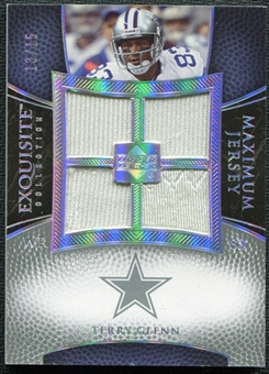 2007 Upper Deck Exquisite Collection Maximum Jersey Silver Spectrum #GL Terry Glenn /15
