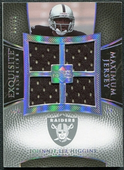 2007 Upper Deck Exquisite Collection Maximum Jersey Silver Spectrum #HI Johnnie Lee Higgins /15