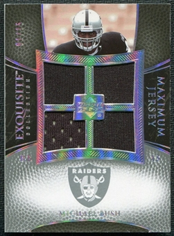 2007 Upper Deck Exquisite Collection Maximum Jersey Silver Spectrum #MI Michael Bush /15