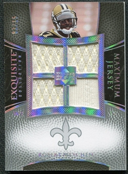 2007 Upper Deck Exquisite Collection Maximum Jersey Silver Spectrum #RM Robert Meachem /15