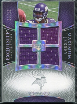 2007 Upper Deck Exquisite Collection Maximum Jersey Silver Spectrum #SR Sidney Rice /15