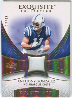 2007 Upper Deck Exquisite Collection Patch Spectrum #AG Anthony Gonzalez 12/15