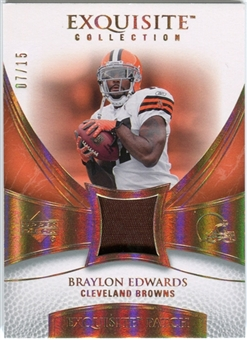 2007 Upper Deck Exquisite Collection Patch Spectrum #BE Braylon Edwards 07/15