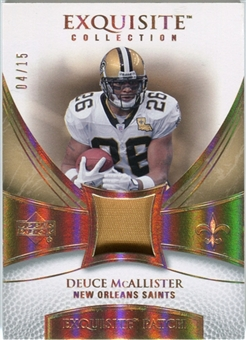 2007 Upper Deck Exquisite Collection Patch Spectrum #MC Deuce McAllister 04/15