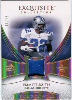 2007 Upper Deck Exquisite Collection Patch Spectrum #ES Emmitt Smith 10/15