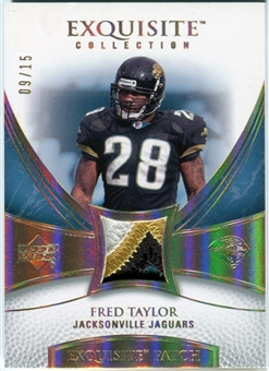 2007 Upper Deck Exquisite Collection Patch Spectrum #FT Fred Taylor 09/15