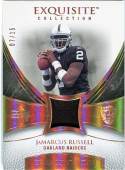 2007 Upper Deck Exquisite Collection Patch Spectrum #JR JaMarcus Russell 07/15