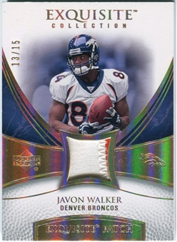 2007 Upper Deck Exquisite Collection Patch Spectrum #JW Javon Walker 13/15