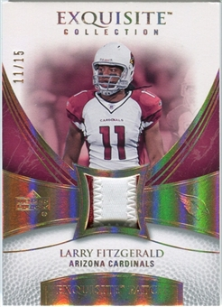 2007 Upper Deck Exquisite Collection Patch Spectrum #LF Larry Fitzgerald 11/15