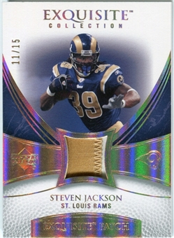 2007 Upper Deck Exquisite Collection Patch Spectrum #SJ Steven Jackson 11/15