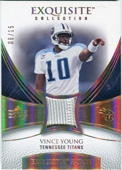 2007 Upper Deck Exquisite Collection Patch Spectrum #VY Vince Young 06/15