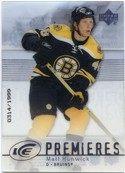 2007/08 Upper Deck Ice #136 Matt Hunwick /1999
