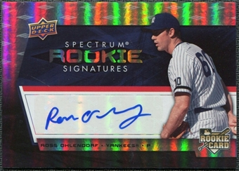 2008 Upper Deck Spectrum #138 Ross Ohlendorf Autograph