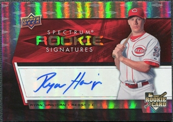 2008 Upper Deck Spectrum #139 Ryan Hanigan Autograph RC