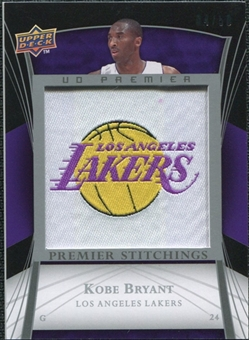 2007/08 Upper Deck Premier Stitchings Patches #PSKB Kobe Bryant 27/50