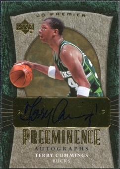 2007/08 Upper Deck Premier Preeminence Gold #PECU Terry Cummings Autograph /25