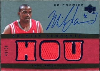 2007/08 Upper Deck Premier Remnants Triple Autographs #MJ Mike James /50
