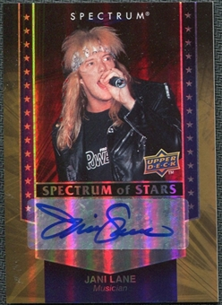 2008 Upper Deck Spectrum Spectrum of Stars Signatures #JL Jani Lane Autograph