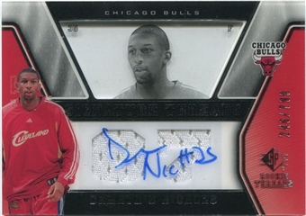 2007/08 Upper Deck SP Rookie Threads #83 Demetris Nichols Autograph /799