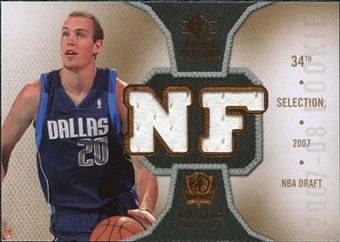 2007/08 Upper Deck SP Rookie Threads Rookie Threads #RTNF Nick Fazekas