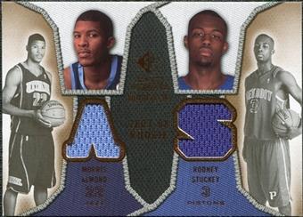 2007/08 Upper Deck SP Rookie Threads Dual #AS Morris Almond Rodney Stuckey