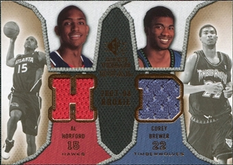 2007/08 Upper Deck SP Rookie Threads Dual #HB Al Horford Corey Brewer