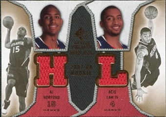 2007/08 Upper Deck SP Rookie Threads Dual #HL Al Horford Acie Law IV