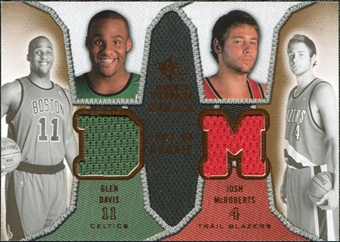 2007/08 Upper Deck SP Rookie Threads Dual #MD Glen Davis Josh McRoberts