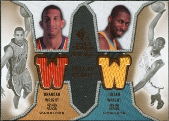 2007/08 Upper Deck SP Rookie Threads Dual #WW Brandan Wright Julian Wright