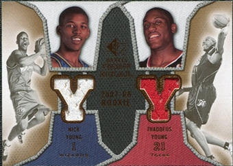 2007/08 Upper Deck SP Rookie Threads Dual #YY Nick Young Thaddeus Young