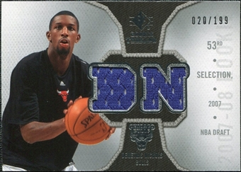 2007/08 Upper Deck SP Rookie Threads Parallel #RTDN Demetris Nichols /199