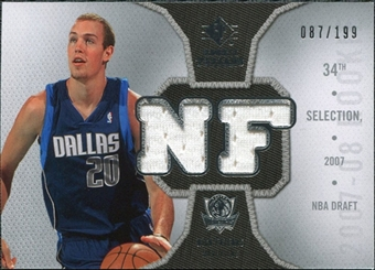 2007/08 Upper Deck SP Rookie Threads Parallel #RTNF Nick Fazekas /199