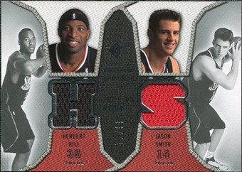 2007/08 Upper Deck SP Rookie Threads Dual Parallel #HS Herbert Hill Jason Smith /99