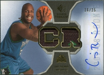 2007/08 Upper Deck SP Rookie Threads Patch Autographs #RTCR Chris Richard /25